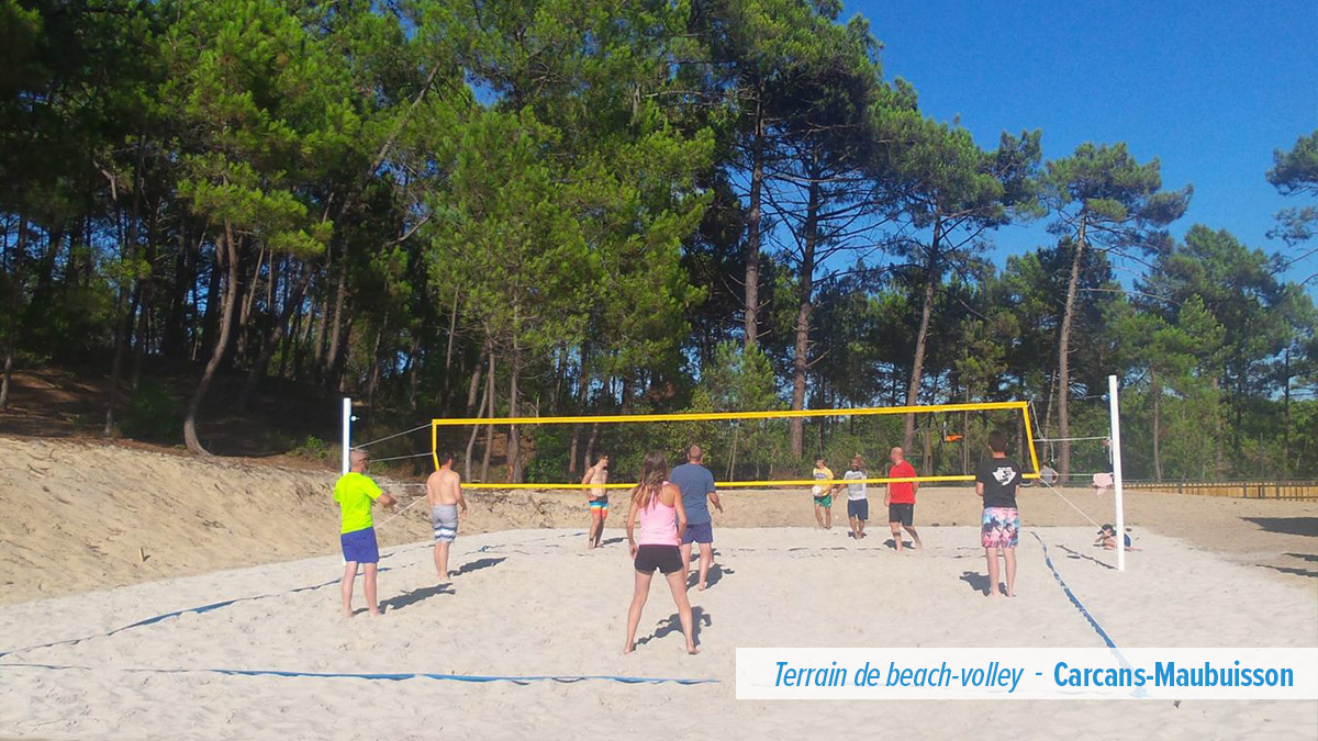 Terrain de beach-volley – Carcans-Maubuisson